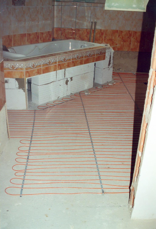 Montáž podlahového topení
